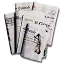 newspapers Black icon