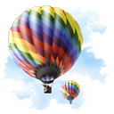 travel, baloon LightSkyBlue icon