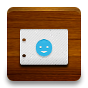 contacts SaddleBrown icon