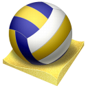 volley, Px, Beach Black icon