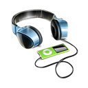 by, Headphones Black icon