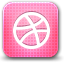 dribbble, creative, nerds HotPink icon