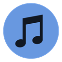 music, sound, Apple, itunes CornflowerBlue icon