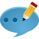 Comment, Edit SteelBlue icon