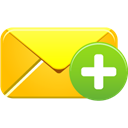 Add, Email Gold icon