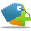 Add, bookmark SteelBlue icon