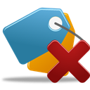 delete, bookmark SteelBlue icon