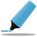 highlightmarker, Blue Black icon