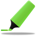 highlightmarker, green Black icon