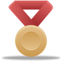 bronze, metal, red Black icon