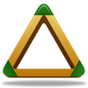 triangle, sport Black icon