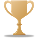 trophy, bronze Black icon