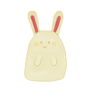 Bunny, happy, Ak Black icon
