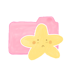 sad, Candy, starry, Ak, Folder Black icon