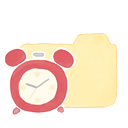 Clock, Ak, Folder, vanilla Moccasin icon