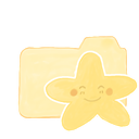 happy, starry, Ak, vanilla, Folder Khaki icon