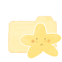 Folder, sad, starry, Ak, vanilla Khaki icon