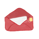 Ak, mail IndianRed icon