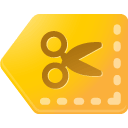 Coupon, tag, y Gold icon