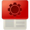Page, customize, r Firebrick icon