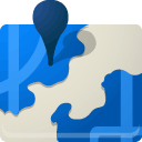 B, Map, pin, with DodgerBlue icon