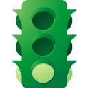 Traffic, light ForestGreen icon