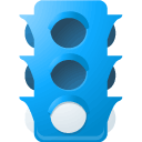 Traffic, light, Lb DodgerBlue icon