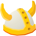 y, viking, hat Gold icon