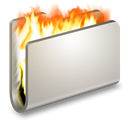 Burn, Folder Black icon