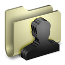 Folder, group Black icon