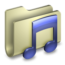 Folder, itunes, music Tan icon