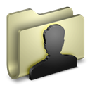user, Folder Black icon