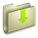 Downloads, Folder Tan icon