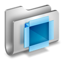 Folder, dropbox Black icon