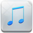 File, music Silver icon