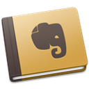 Brown, Evernote Black icon