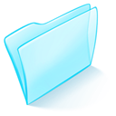 Blue, normal, dossier PaleTurquoise icon