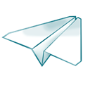 Paperplane Black icon