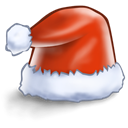 hat, santa Black icon