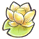 lotus, Flower Khaki icon