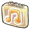 recorder, music Black icon