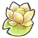 Flower, lotus Khaki icon
