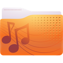 Folder, sound Chocolate icon