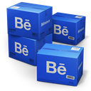 Behance, Shipping RoyalBlue icon