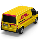 dhl, Back Black icon