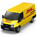 dhl, Front Black icon
