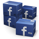 Facebook, Shipping MidnightBlue icon