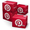 Shipping, pinterest Firebrick icon