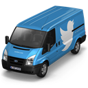 twitter, Front SteelBlue icon