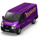 Front, yahoo Black icon